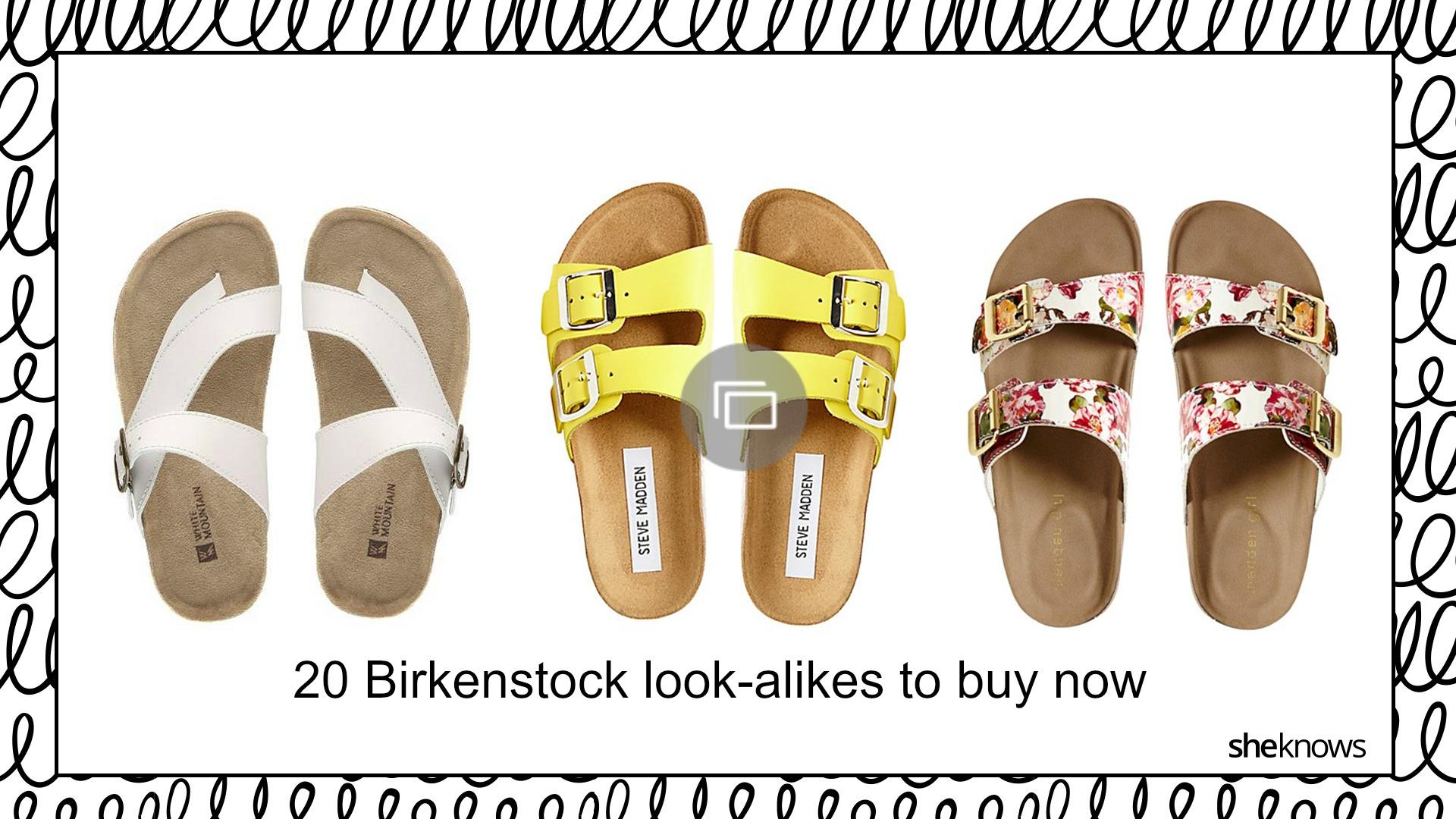 Birkenstocks look-alikes for fashionistas