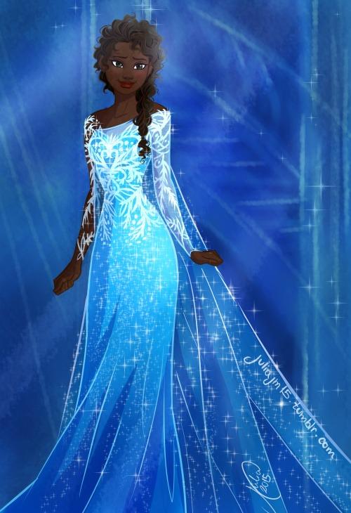 Black Elsa from Frozen