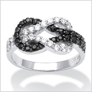 Black and white cubic zirconia