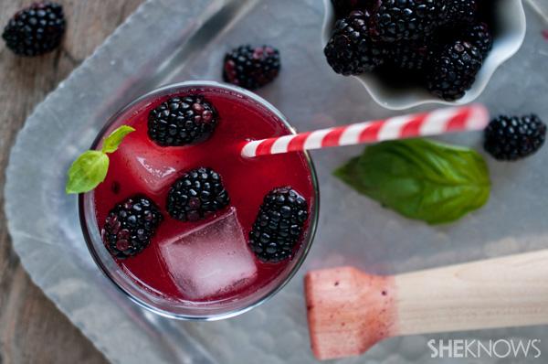 Blackberry Basil Margarita