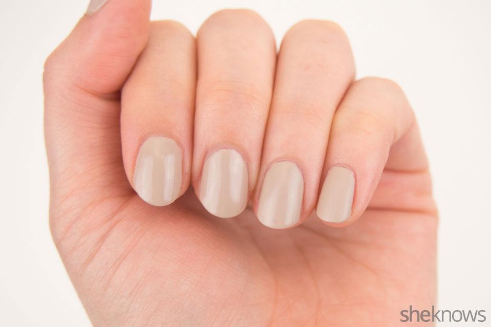 Bloody finger prints nail design: Step 1