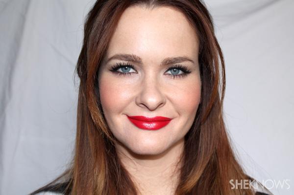 Blue red lipstick