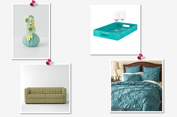 Get the look: Blue and Green collage