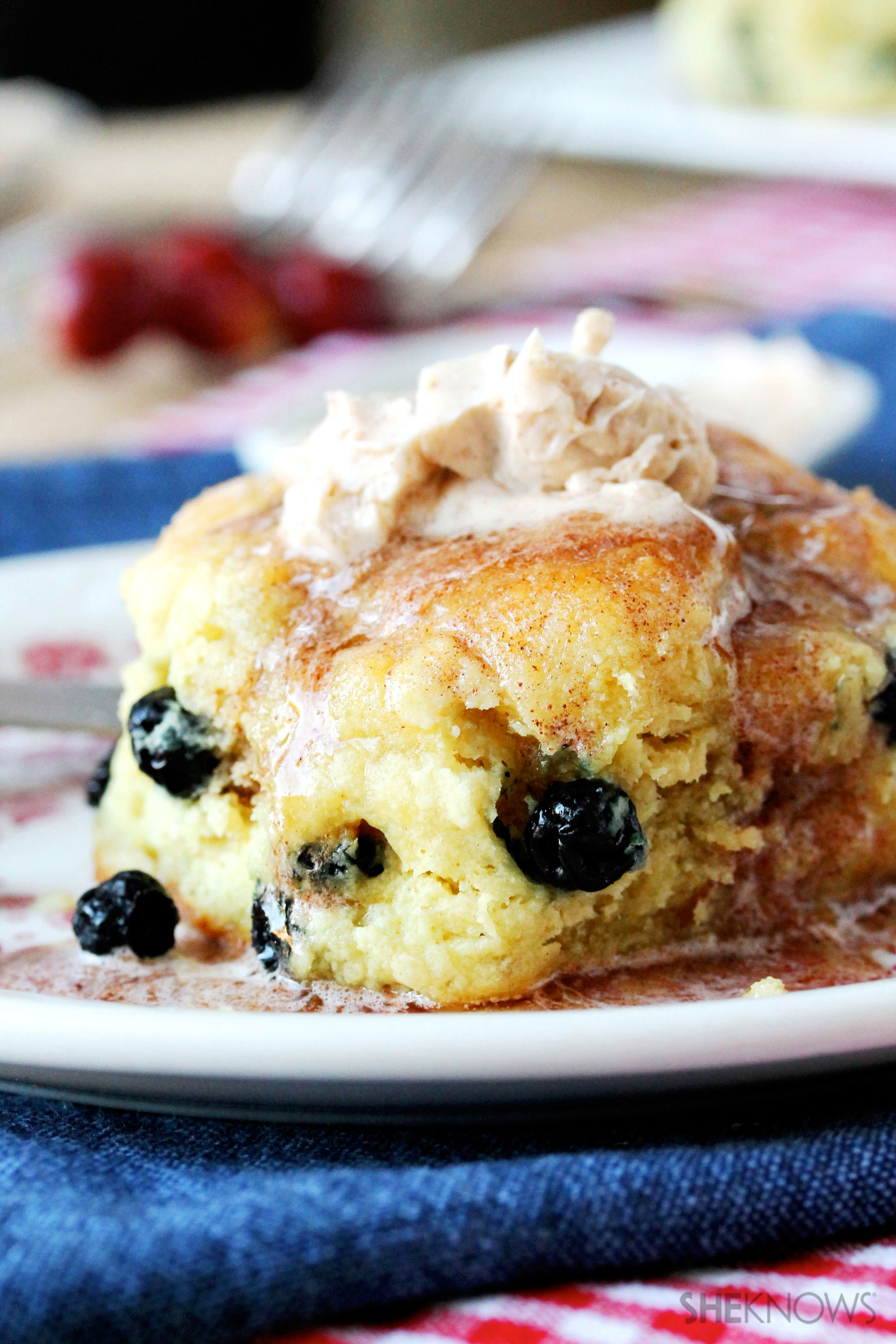 Blueberry biscuits with cinnamon butter recipe