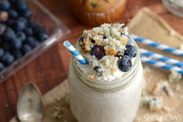 Blueberry muffin milkshake