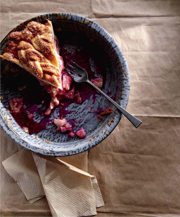 Blushing apple pie recipe