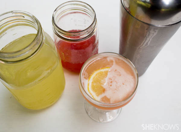 Boozy pink lemonade