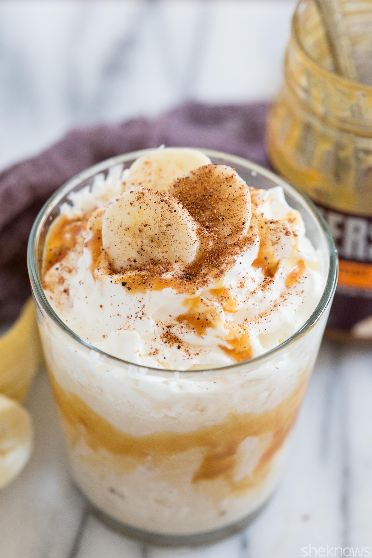 boozy banana fosters milkshake cocktail