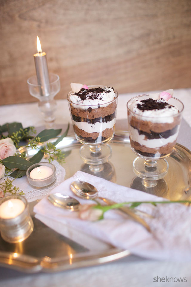 Boozy Triple Chocolate Trifles for Two 6