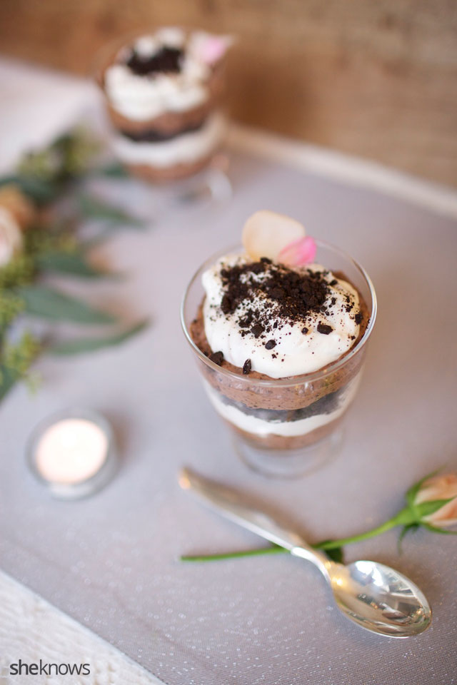 Boozy Triple Chocolate Trifles for Two 4