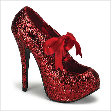 Bordello Teeze in Red Glitter