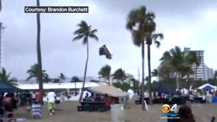 Tornado lifts bounce house on Florida