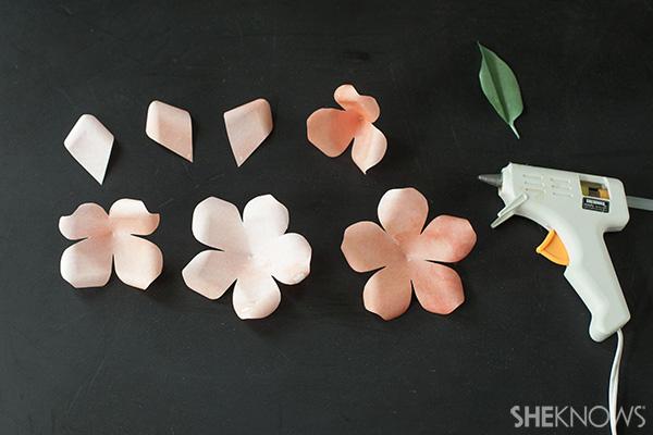 Assembling the rose petals