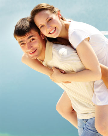 Boyfriend giving a piggyback ride