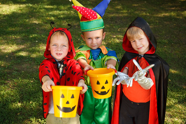 Boys trick or treating
