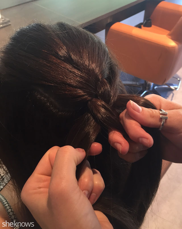 How to do a French braid: Step 3 b
