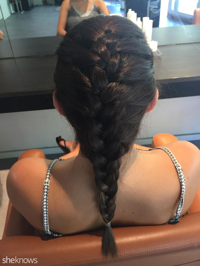 How to do a French braid: Result