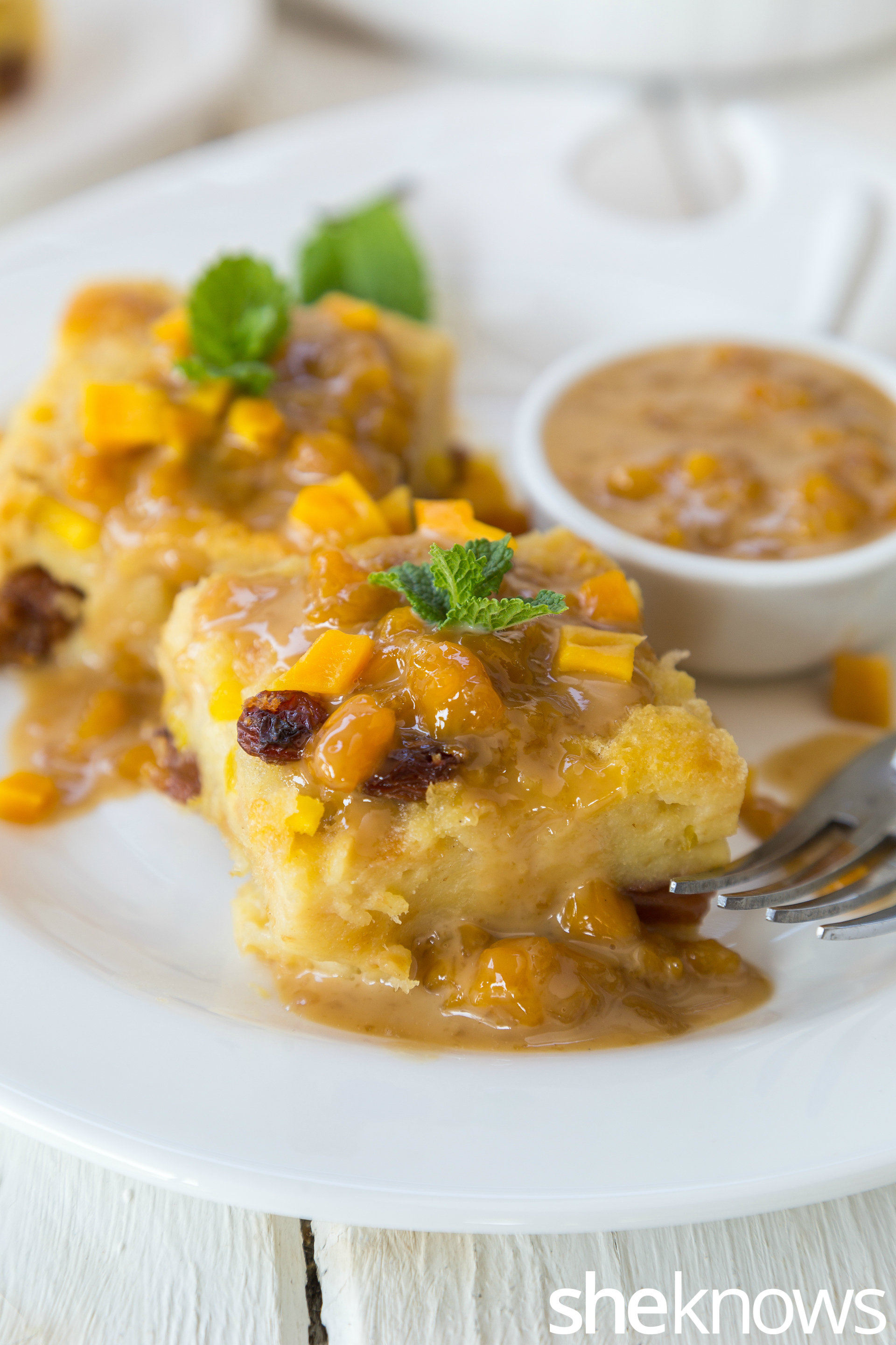 Bread and Mango Pudding2