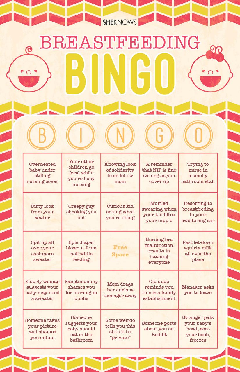 Breastfeeding bingo   Sheknows.com