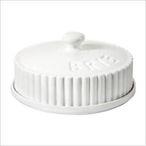 Porcelain Brie server