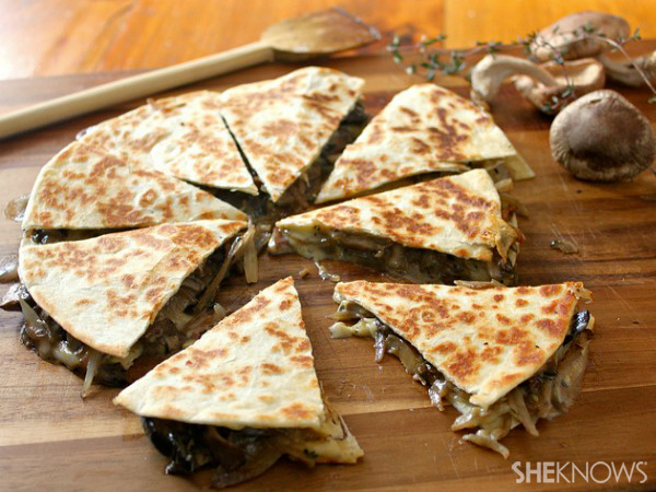 Brie and mushroom quesadilla recipe