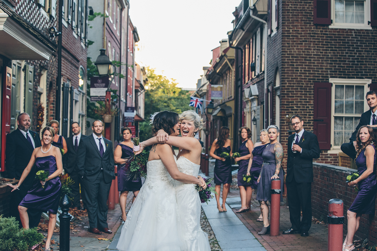 Brigid and Jess lesbian wedding in Philly