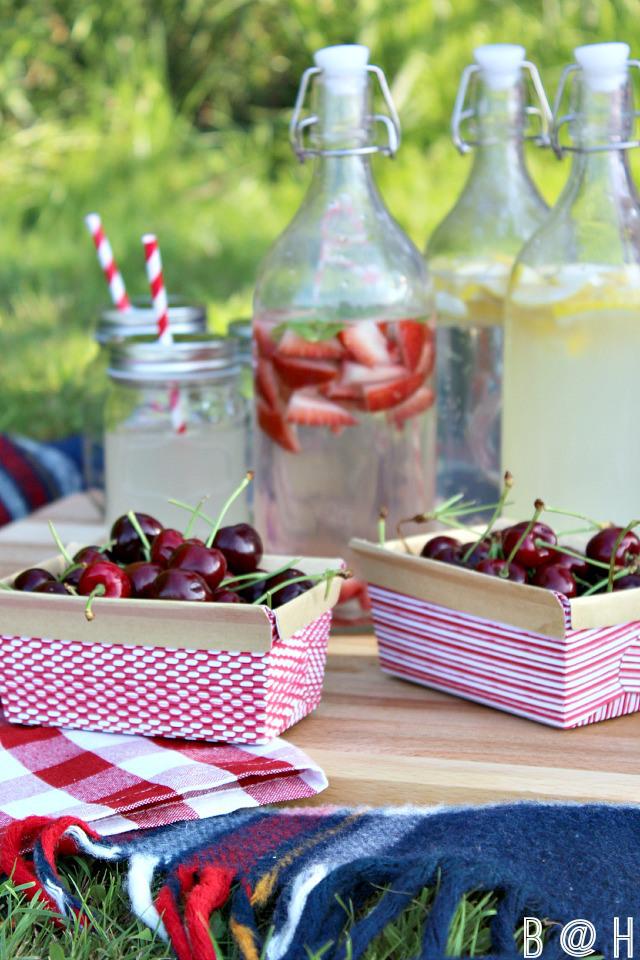 Cutting board at picnic
