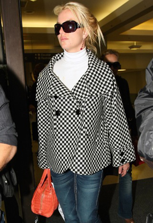 Britney Spears on Christmas flying off to India