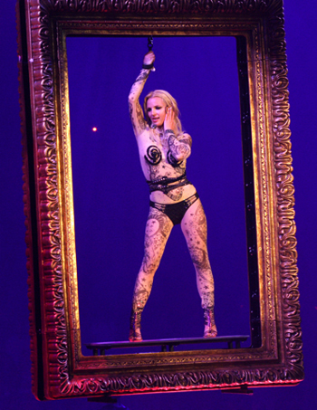 Britney Spears out on her Circus tour