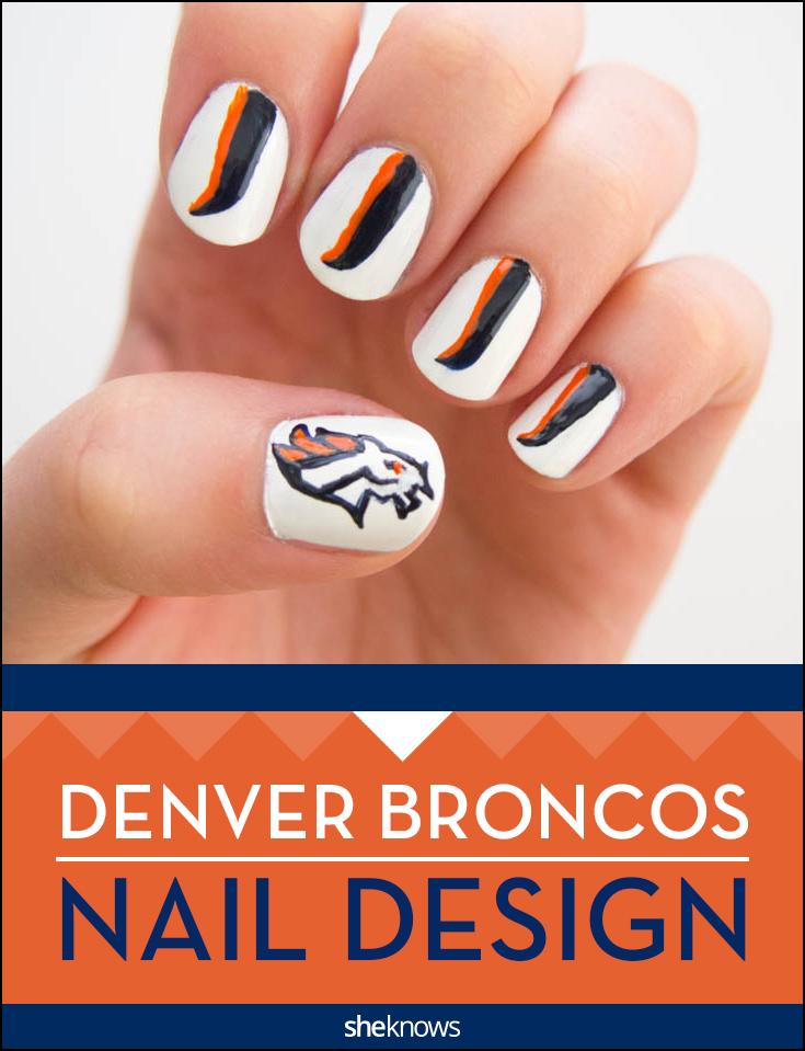 Broncos nail design