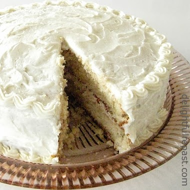 Brown butter cake with brown butter frosting