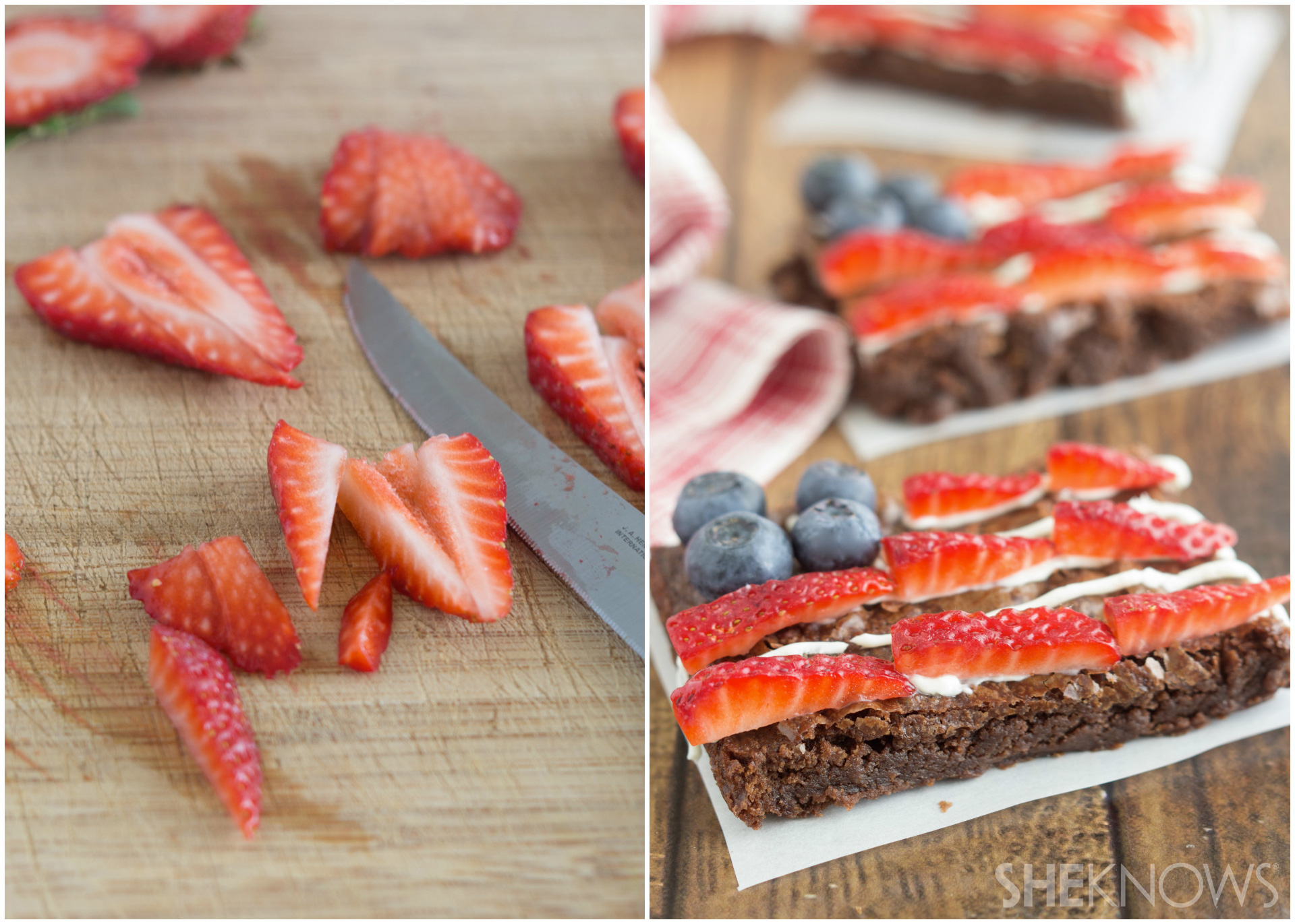 Flag brownie tarts