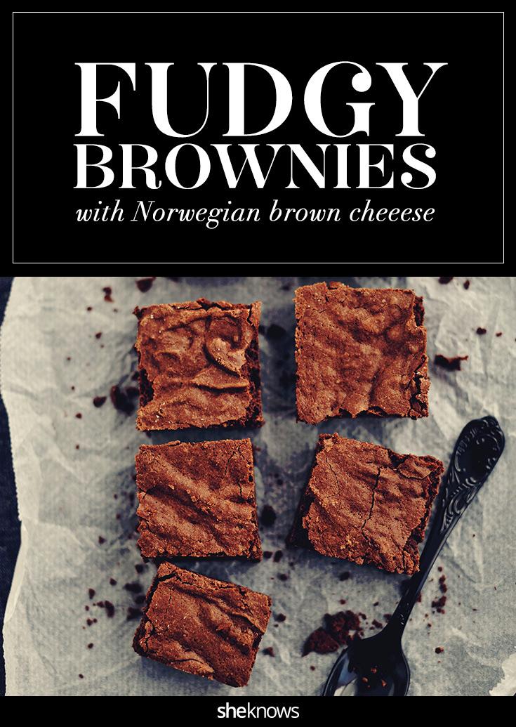 gjetost brownies