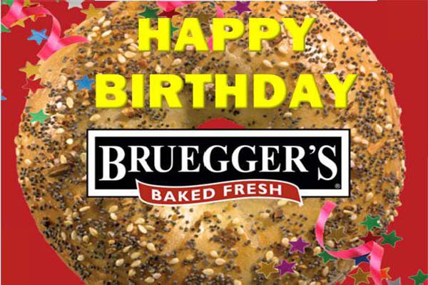 Bruegger's Bagels giving away free bagels!