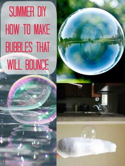 Bubbles that bounce