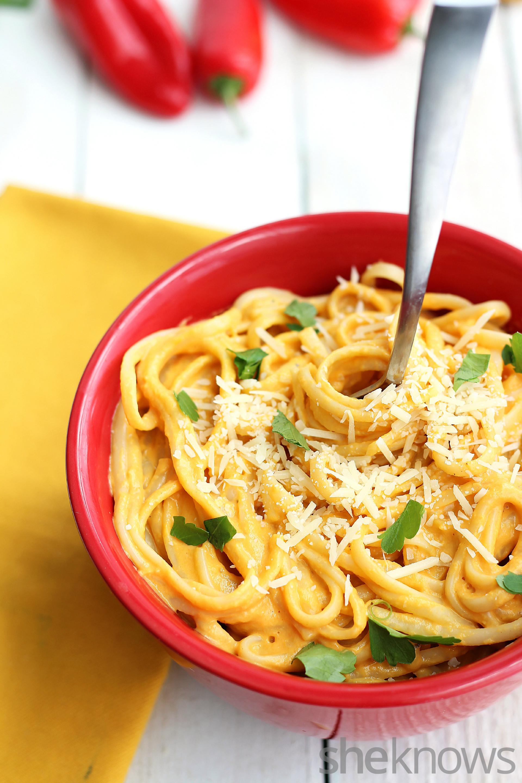 Red pepper and butternut squash pasta recipe
