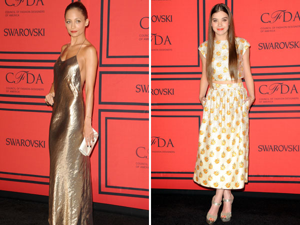 Nicole Richie and Hailee Steinfeld at the 2013 CFDA Awards