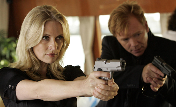 Emily and David Caruso take aim on another season of CSI: Miami