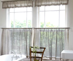Smith+Noble Cafe Sheer & Valance