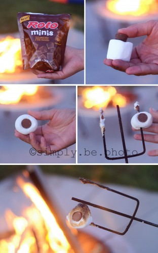 candy stuffed s'mores