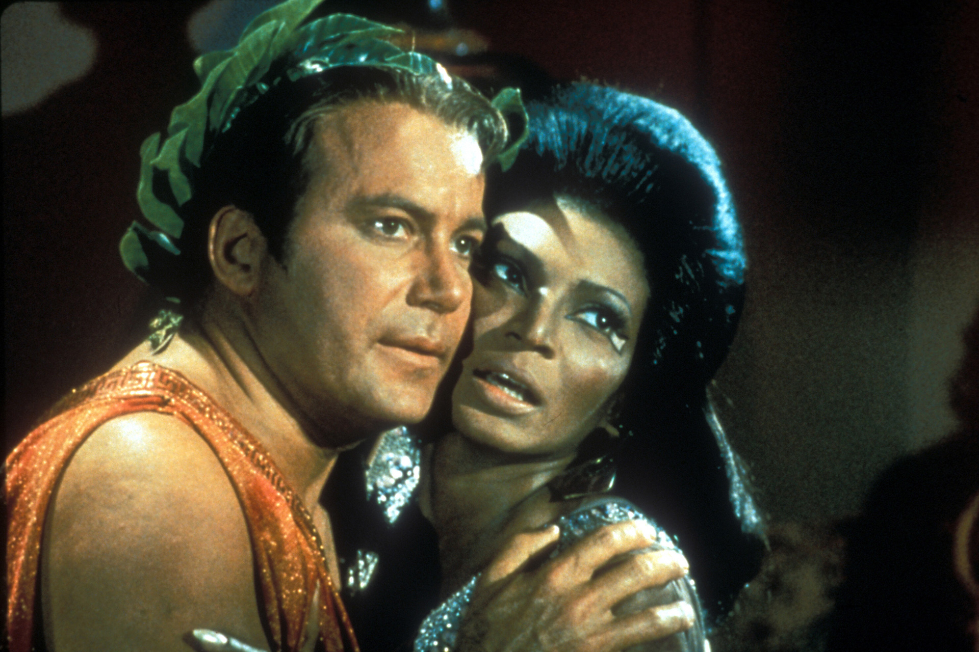 Capt. James T. Kirk and Lt. Uhura