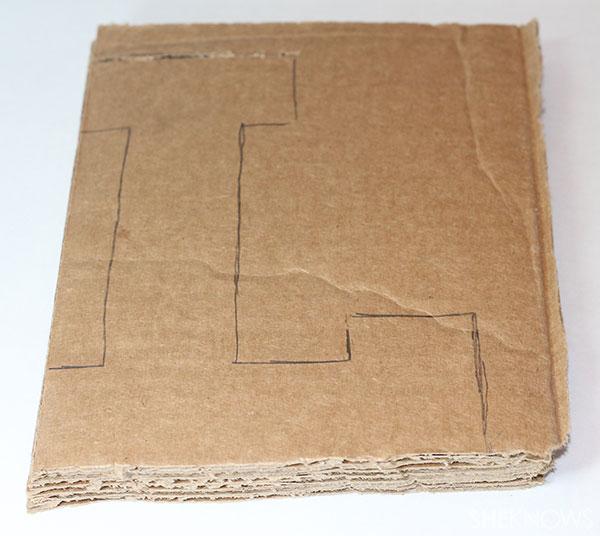 Cardboard & fabric name 1