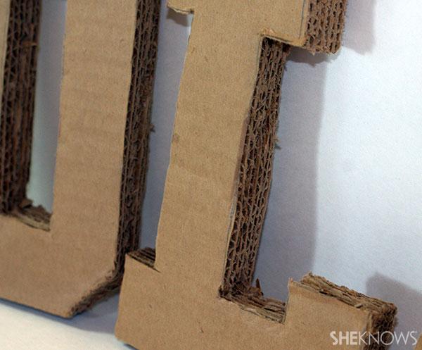 Cardboard & fabric name 2