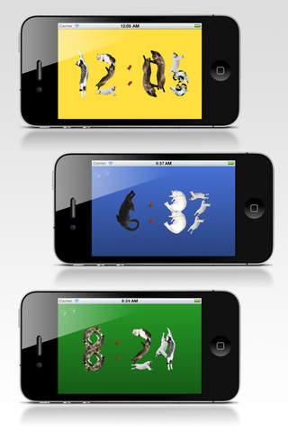 Cat clock app
