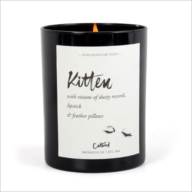 Catbird Kitten Candle
