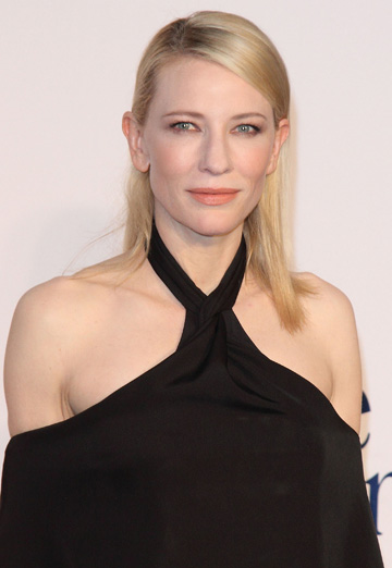 Cate Blanchett with side swept hair