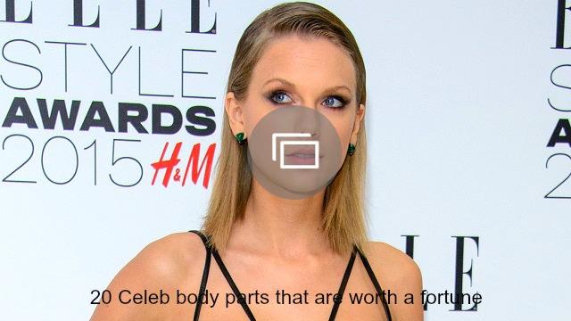 Celeb body parts insured slideshow