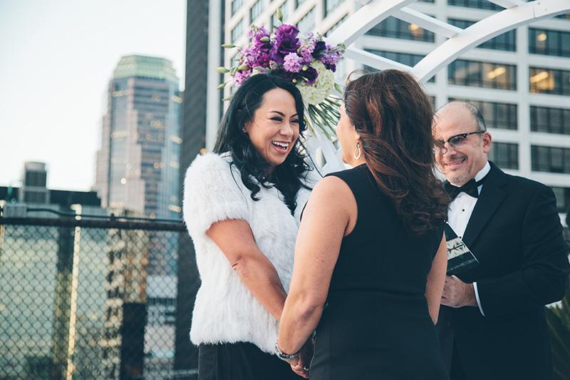 Celia and Myrna lesbian wedding
