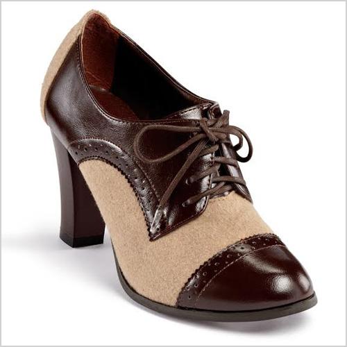 Chadwick's High Heel Oxfords