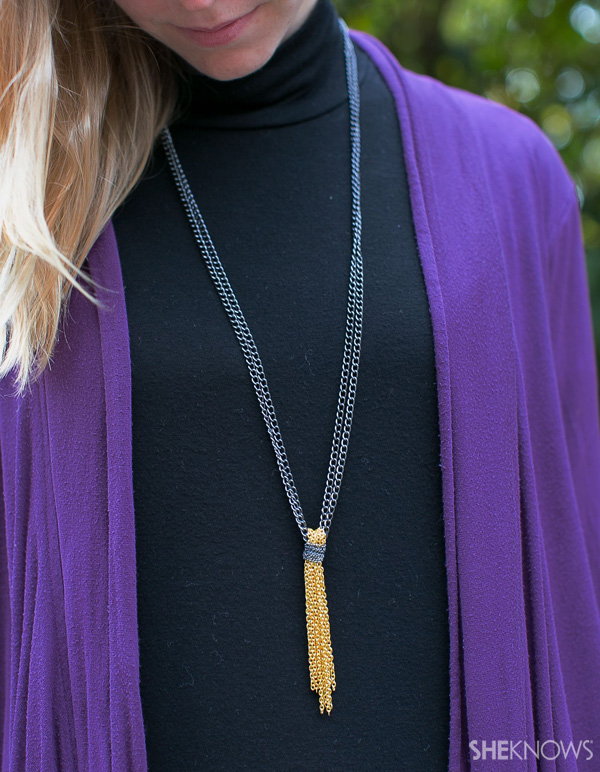 DIY Chain tassel necklace | SheKnows.com